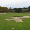 A view of the bunker on the 12th fairway at Old Bandon Golf Links