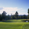Sunriver Woodlands #17: Your drive needs to be perfectly placed to avoid the two large trees on the left side of the fairway. Keep the tee shot to the right side for the best approach shot into a green surrounded by water left and bunkers right.
