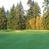 A sunny day view from a fairway at Chehalem Glenn Golf Club