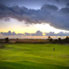 Sunset view from the The Punchbowl putting course at Bandon Dunes Golf Resort