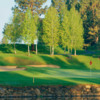 A view over the water of a hole at Bend Golf & Country Club