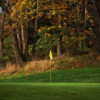 Fall view of a green at Rose City Golf Course