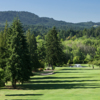 A view of green #7 at Corvallis Country Club
