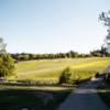 A sunny day view of a fairway at Chehalem Glenn Golf Club.