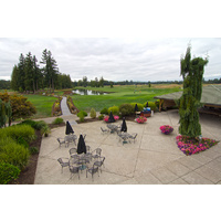 Here's a view of the North Course at The Reserve Vineyard and Golf Club from an outside patio.