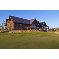 Check in at the clubhouse to begin your round at Tetherow Golf Club in Bend.