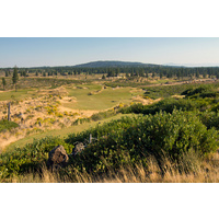 The 10th hole is the shortest par 4 at Tetherow Golf Club in Bend, Oregon.