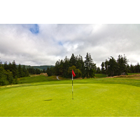 The seventh hole at Bandon Crossings Golf Course is the longest par 4 on the course at 455 yards.