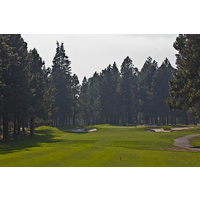The par-3 fourth hole on the Big Meadow Golf Course at Black Butte Ranch is a bit uphill.