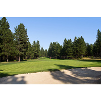 Here's a look at the green on the par-3 fourth hole of the Big Meadow Golf Course at Black Butte Ranch.