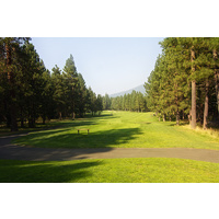 The par-4 fifth hole on the Big Meadow Golf Course at Black Butte Ranch is very straightforward.