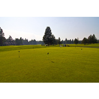 The practice area on the Big Meadow Golf Course at Black Butte Ranch is large.