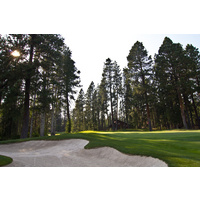 There's plenty of sand surrounding the 10th green on the Big Meadow Golf Course at Black Butte Ranch.