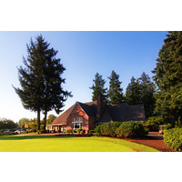 The clubhouse at Rose City Golf Course, a beautiful red brick building with steep pitched roofs, was built in 1937.
