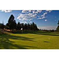 Blue skies and green turf awaits at spectacular River's Edge Golf Course in Bend, Oregon.