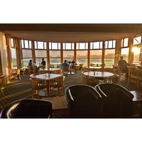 Tufted Puffin Lounge, next to the Gallery Restaurant, serves a full menu as well as drinks well into the night.