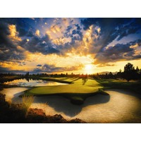 The 13th on the Nicklaus Course at Pronghorn Club & Resort in Bend, Ore., is one of the most picturesque holes on the golf course.