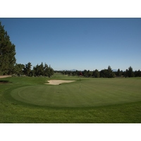 The par-4 fifth on the Nicklaus Course at Pronghorn Club & Resort can play as long as 467 yards.