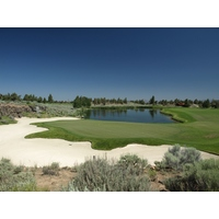 The 378-yard par 4 13th is arguably the signature hole on the Nicklaus Course at Pronghorn Club & Resort in Bend, Ore.